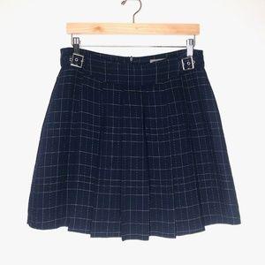 VTG T. Garment Navy Plaid Schoolgirl Pleated Skirt
